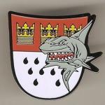 """Pin """"Köln-Wappen mit Hai"""""""