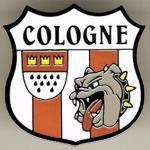 """Pin """"Cologne - Kölnwappen und Bulldogge"""""""