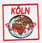 """Aufnäher """"Köln - all over the World"""""""